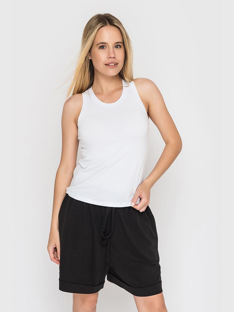 Майка базовая белая YOS от украинского бренда Your Own Style