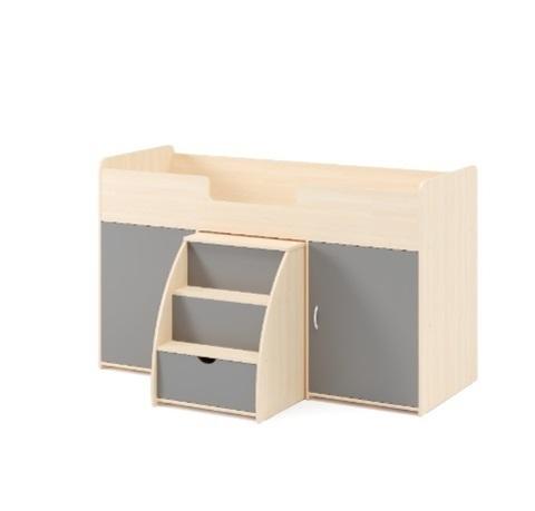 Кровать-чердак с выдвижным столом-лестницей (Б)