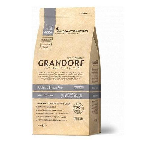 2 кг. GRANDORF Сухой низкозерновой корм для стерилизованных кошек с кроликом и рисом Rabbit&Rice Adult Sterilized