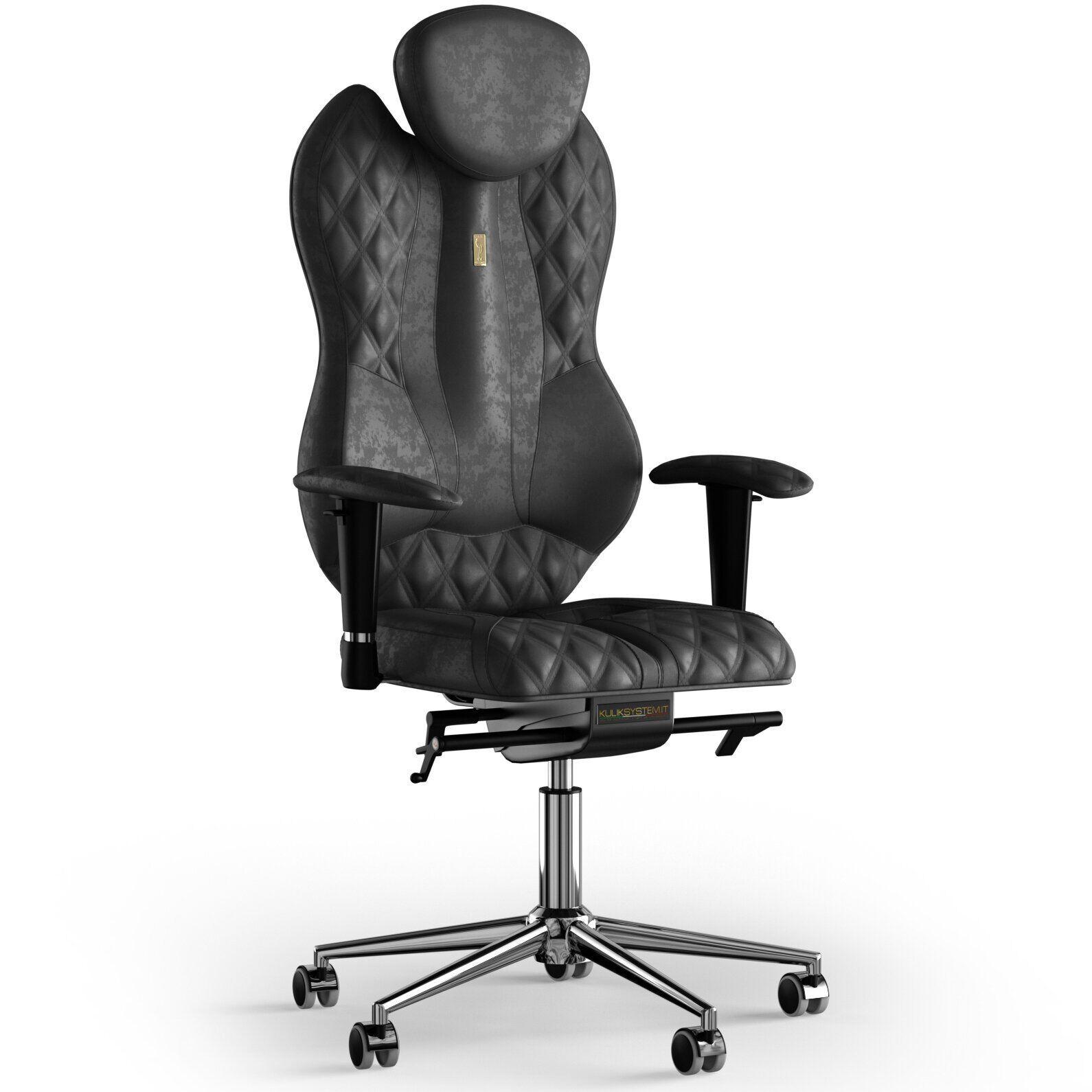Кресло KULIK SYSTEM GRAND Антара с подголовником с дизайнерским швом