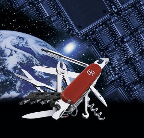 Нож Victorinox CyberTool, 91 мм, 34 функции, полупрозрачный красный123