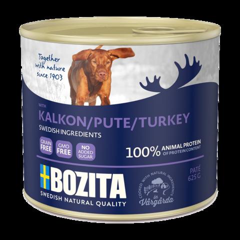 Bozita Turkey Консервы для собак мясной паштет с индейкой (железная банка)
