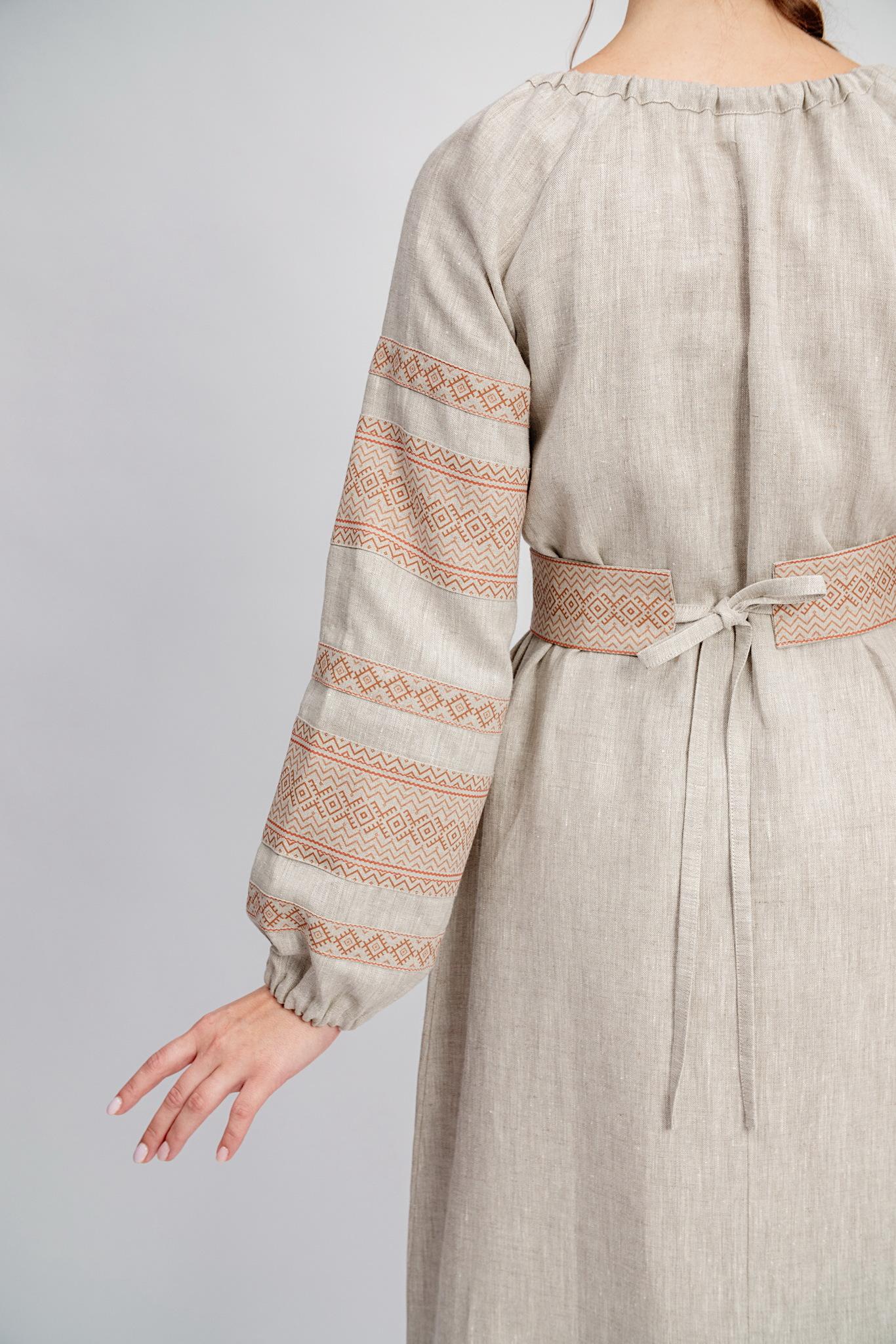 Льняное платье в пол Лада