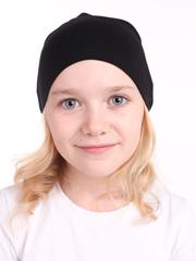 Детская шапочка бини черная