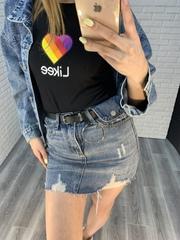 очень короткая джинсовая юбка nadya