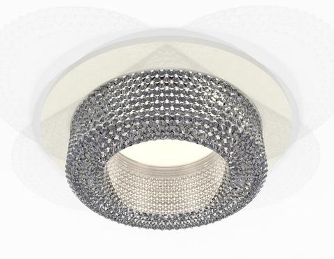 Комплект встраиваемого светильника XC7621020 SWH/CL белый песок/прозрачный MR16 GU5.3 (C7621, N7191)