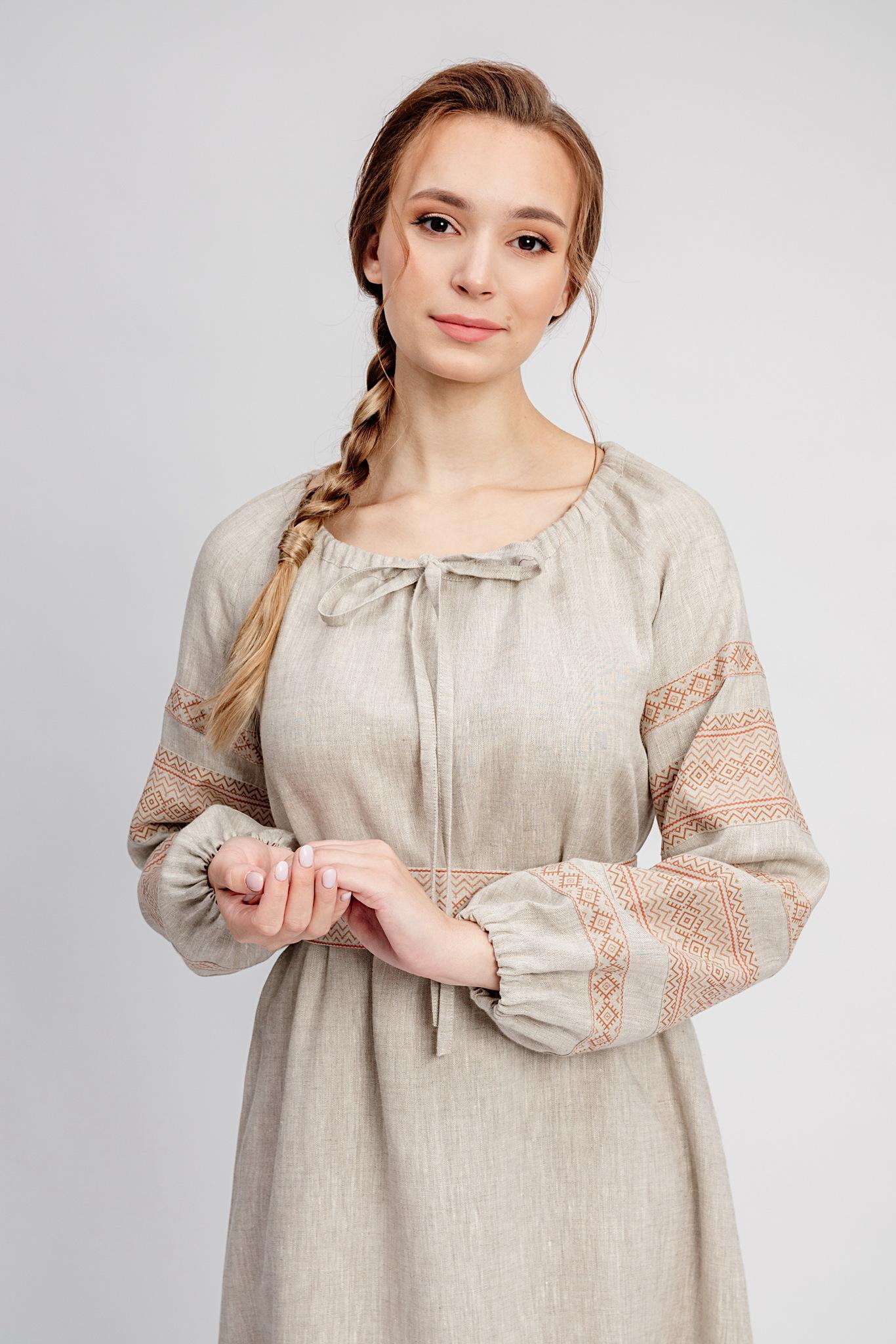 Русское народное платье с поясом Лада