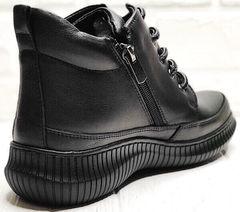 Весенние ботинки женские сникерсы Evromoda 535-2010 S.A. Black.