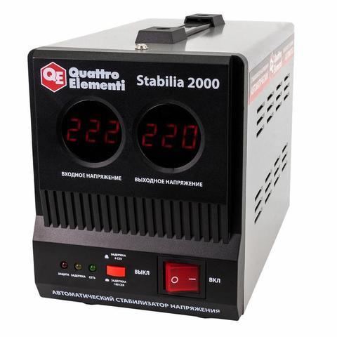 Стабилизатор напряжения QUATTRO ELEMENTI Stabilia  2000 (2000 ВА, 140-270 В, 4,5 кг) (772-067)