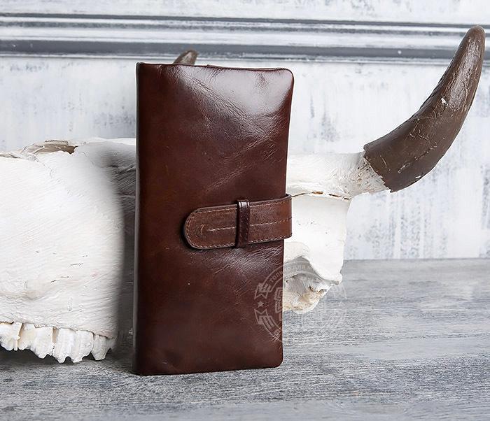 WL270-2 Мужской клатч из кожи винтажного дизайна фото 03