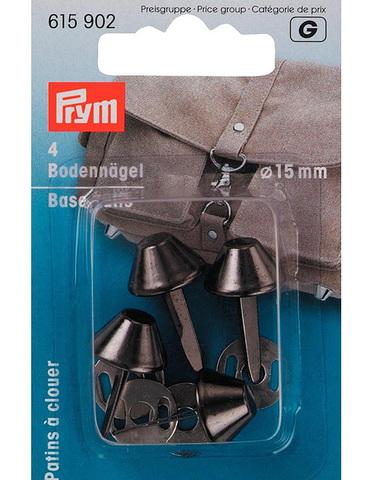 Ножки для дна сумки 15мм 4шт цвета состаренного серебра (Арт. 615902)