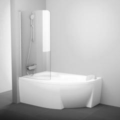 Шторка для ванны Ravak Rosa 160-170 L CVSK1 хром Transparent