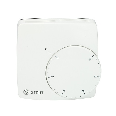 Термостат комнатный проводной STOUT WFHT-BASIC (со светодиодом, нормально закрытый)