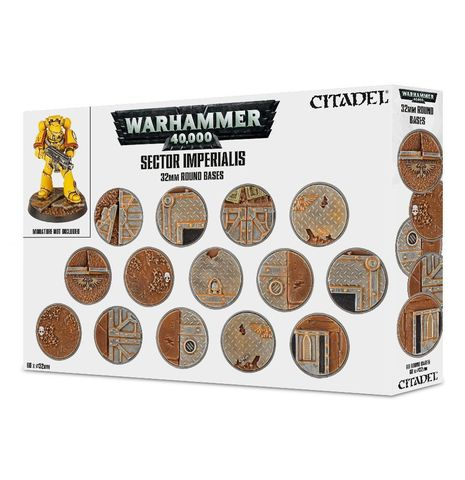 Sector Imperialis 32mm Round Bases (набор круглых 32 мм баз)