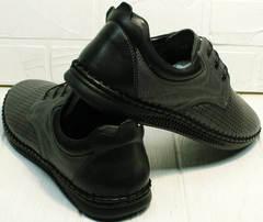 Летнии туфли мужские мокасины из натуральной кожи Ridge Z-430 75-80Gray