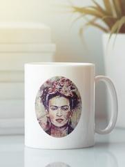 Кружка с рисунком Фрида Кало (Frida Kahlo) белая 009
