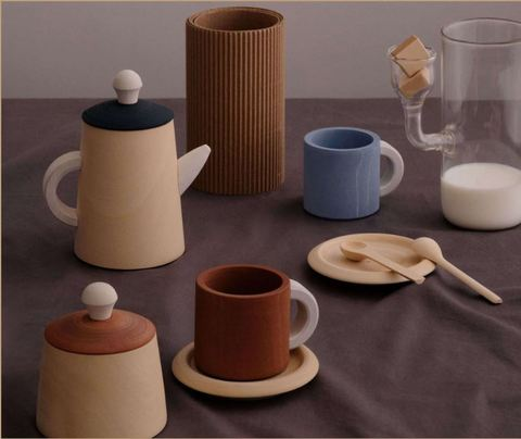 Чайный набор терра и синий Радуга Грез