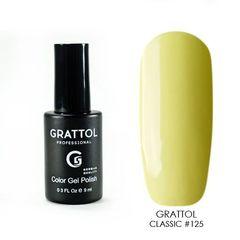 Grattol, Гель-лак 125, Light Yellow, 9 мл