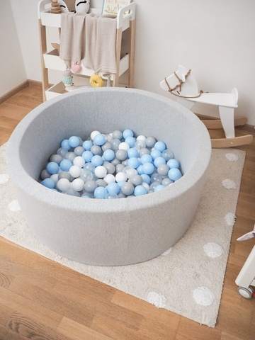 Серый сухой бассейн 100/40см  Anlipool комплект №34 Sea foam