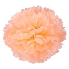 Помпон из бумаги 40 см персиковый