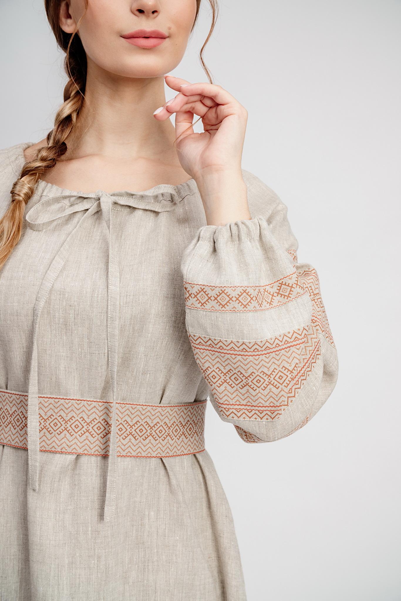 Славянское платье из льна Лада