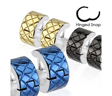 SE2722-GD Широкие серьги «Spikes» из стали (цвет золотистый)