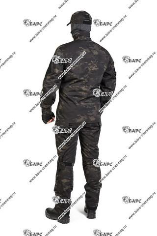 Камуфляжный костюм «Гром» (С наколенниками) Мультикам черный