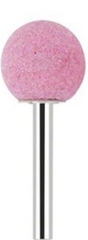 Бор корундовый абразивный шаровидный (розовый) 5 мм