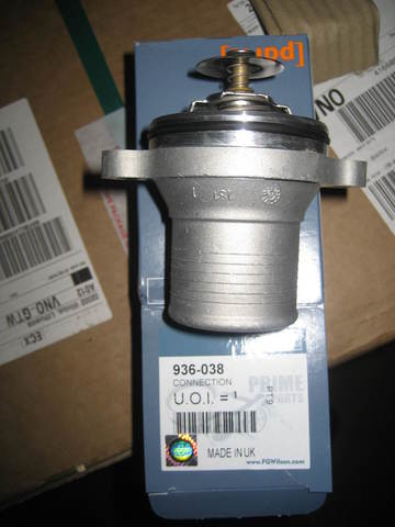 Термостат в сборе с корпусом, отвод вертикальный / CONNECTION АРТ: 936-038