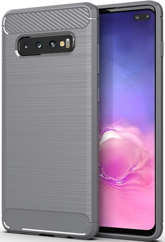 Чехол Samsung Galaxy S10 Plus цвет Gray (серый), серия Carbon, Caseport