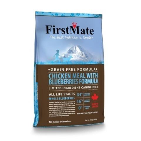 FirstMate Chicken Meal With Blueberries сухой беззерновой корм для взрослых собак всех пород с курицей и голубикой 20 кг.