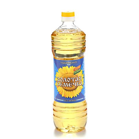 Масло подсолнечное раф. Золотая семечка МИНИМАРКЕТ 1л