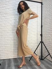 Костюм женский с брюками бежевый недорого