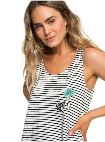 Майка ROXY FOR YOU MY LOVE J TEES KVJ3 TRUE BLACK EAST STRIPES