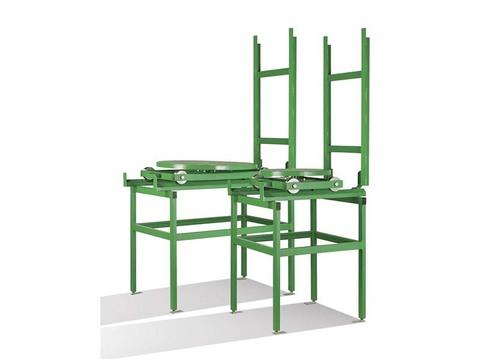 Комплект стол 500мм поворотный ручной  на тележке с путями для CAB-110