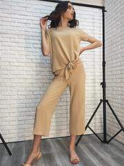 Костюм женский с брюками бежевый Nadya