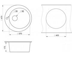 Мойка Granula 4801 - схема