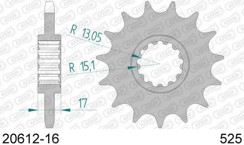 Звезда Afam передняя стальная 20612-16, 525 (JTF1370.16)