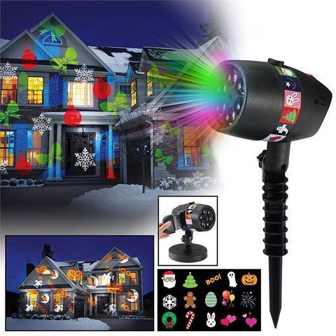 Лазерный проектор Slide Star Shower 12 сменных слайдов