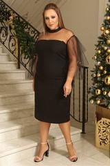 Платье с ярусными рукавами MT5699Black
