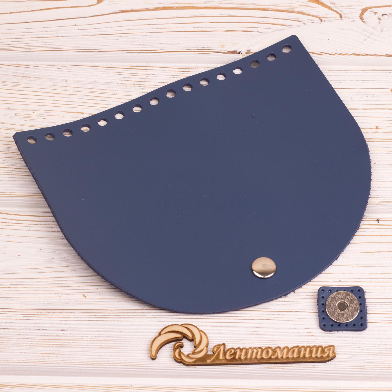"""Вся фурнитура Клапан для сумочки с магнитной застежкой кожаный """"Синий"""" 19*16 см IMG_4353.JPG"""