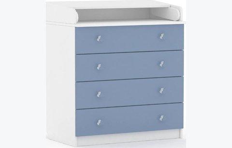 Комод Polini kids Simple 1580, белый-синий