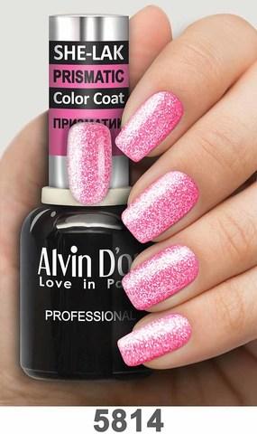 Alvin D`or Лак для ногтей SHE-LAK PRISMATIC  тон 5814 -8мл
