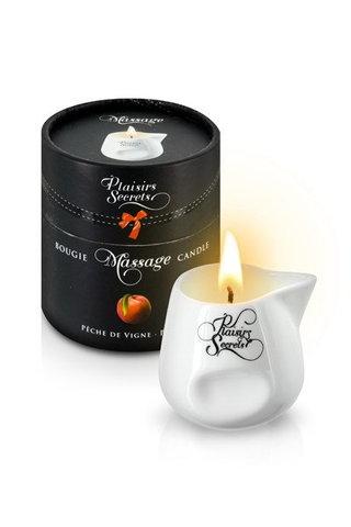MASSAGE CANDLE PEACH 80ML Свеча с массажным маслом Персик 80 мл
