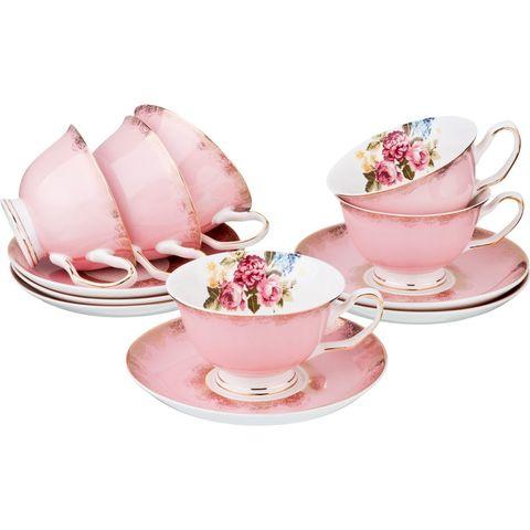 Чайный набор из фарфора на 6 персон 275-902