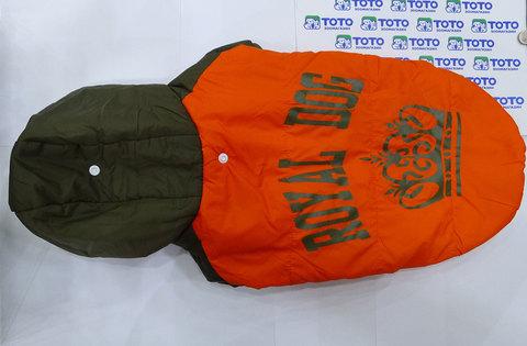 Royal Dog дождевик с флисом оранжевый, размер 2XL