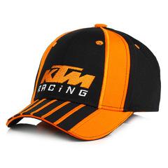 Стильная бейсболка с вышивкой КТМ (Кепка KTM) черная/ оранжевая
