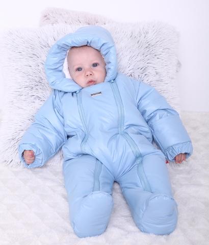 Зимний комбинезон для новорождённых Зимушка голубой