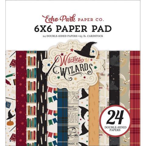 Набор двусторонней бумаги 15х15 см -Echo Park Double-Sided Paper Pad -Witches & Wizards -24л