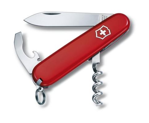 Нож Victorinox Waiter, 84 мм, 9 функций, красный, блистер